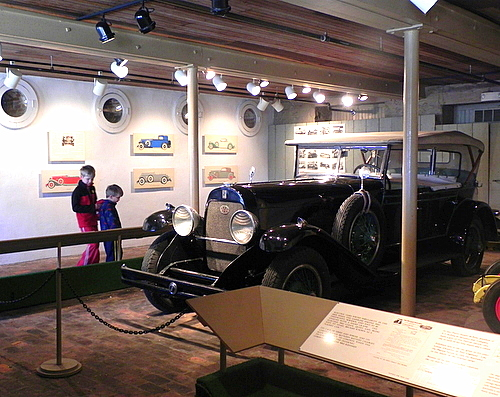 Antique cars at the Hagley Museum