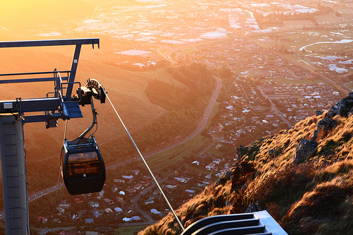Christchurch gondola at sunset