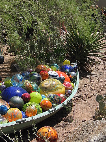 Glass balls Dale Chihuly Sculpture Arizona Desert Botantical Garden
