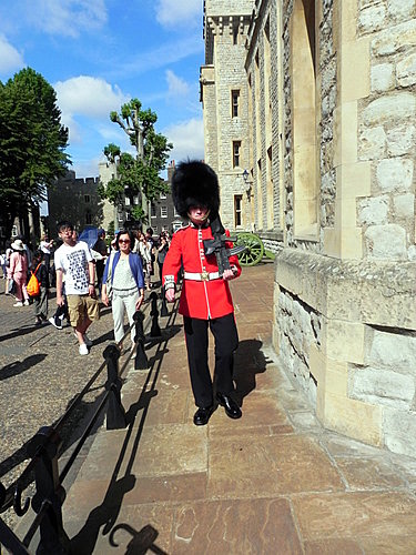 Guarding the jewels at the Tower of London