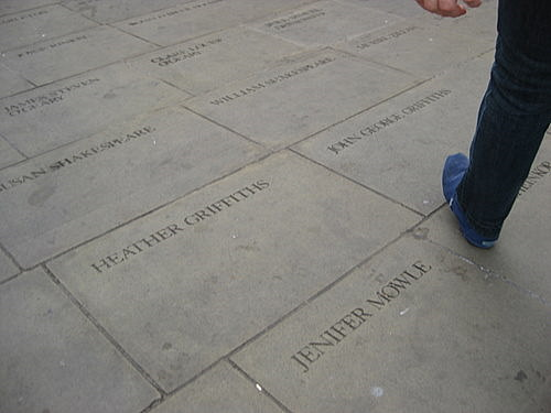 Paving stones at the Globe Theatre