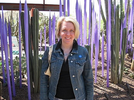 Purple Dale Chihuly Sculpture Arizona Desert Botantical Garden