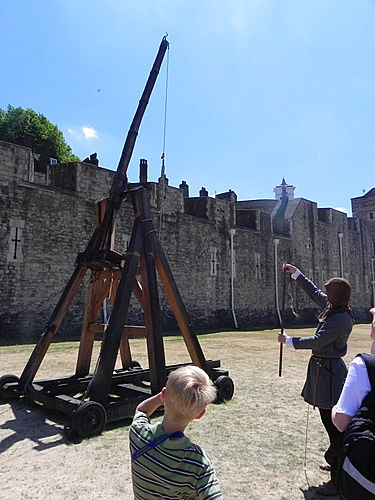 Siege weapons at the Tower of London
