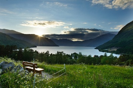 Sunset in Kinsarvik, Norway