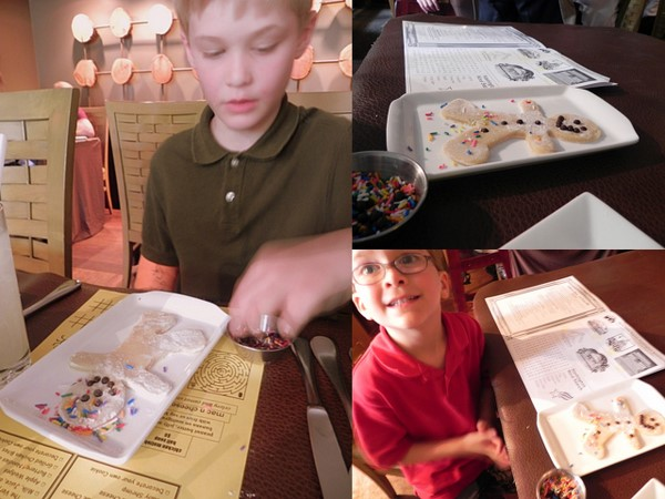Making cookies at the Firefly Restaurant