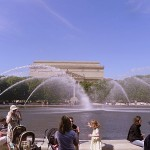 National Archives viewed through the fountain