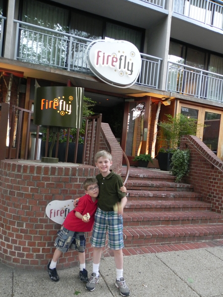 Outside Firefly Resaturant in Washington DC