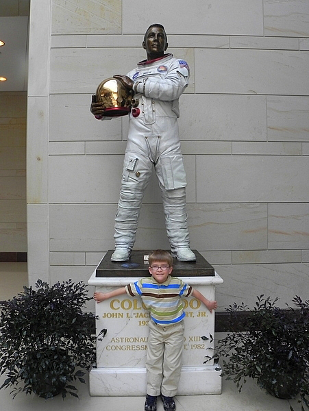 Statue of Jack Swigert in Emancipation Hall