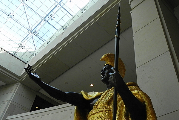 Statue of King Kamehameha in Emancipation Hall