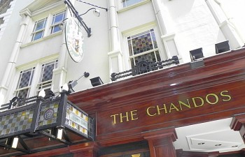 Eating out with kids in London at The Chandos