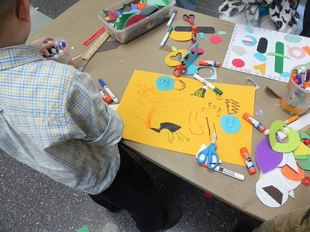 Making collages at the Philadelphia Museum of Art
