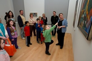 Family tour of the Chagall exhibit at the Philadelphia Museum of Art (Credit: Mark Gavin)