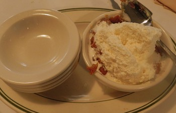 Indian pudding at Durgin Park Restaurant