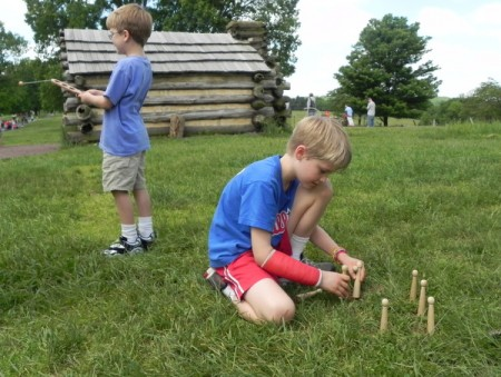 Playing with 18th-century toys at Valley Forge