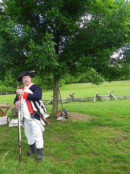 Interpreter dressed as a soldier at Valley Forge