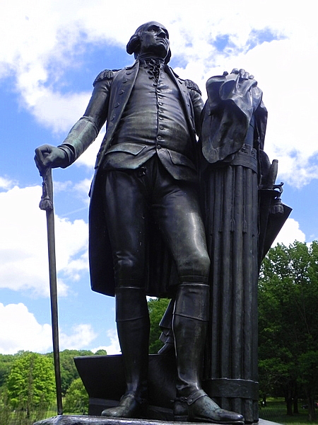 Statue of George Washington at Valley Forge