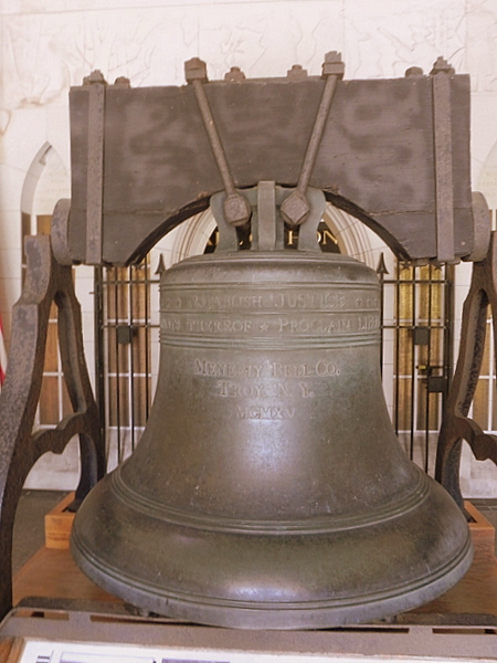 The Justice Bell at National Patriots Bell Tower