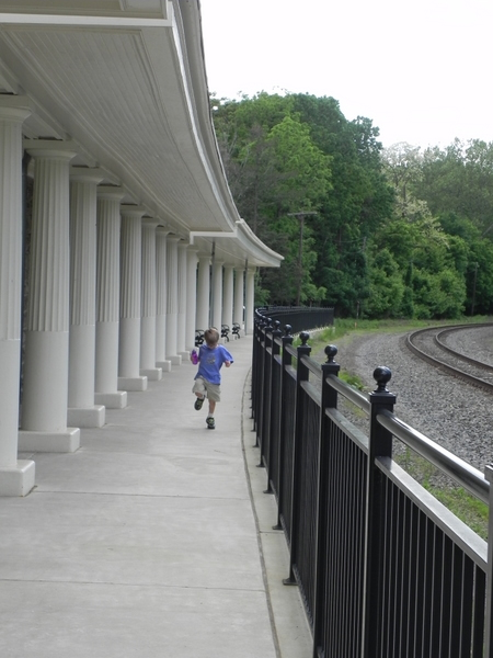 Train station at Valley Forge National Historical park