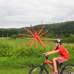 Summer in Vermont: Boy, bike, art