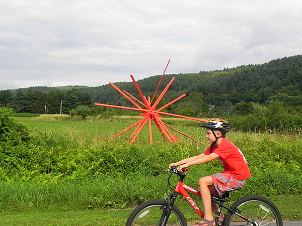 Art along the Stowe, Vermont bike path
