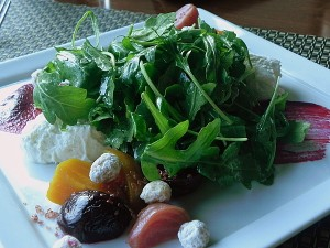 Beet salad from Hourglass Restaurant at Stowe Mountain Resort