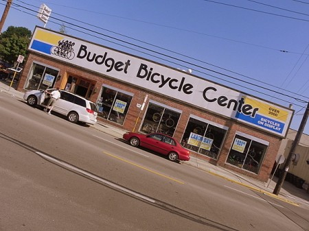 Budget Bicycle Center shop - a great place to rent bikes in Madison Wisconsin