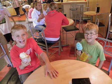 Enjoying ice cream at UW Madison's Bascom Hall