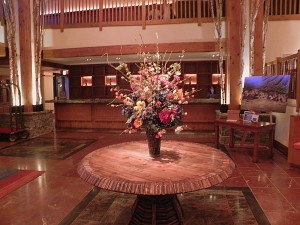 Main lobby at Stowe Mountain Lodge