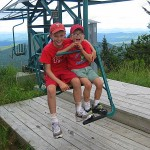 Sitting on the single chair at Mad River Glen