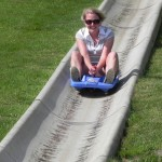 Speed demon on the Stowe Alpine Slide