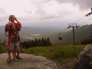 Top of the gondola at Stowe, Vermont