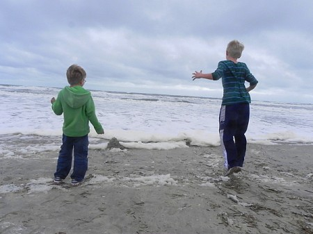 Watching the waves in the Currituck Outer Banks