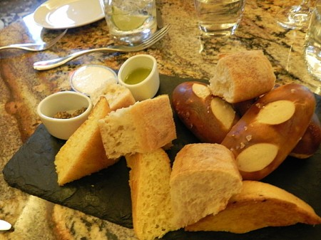 Bread plate at The Trellis restaurant