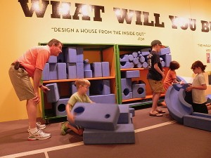 Making a house in Kohl's Art Generation Gallery