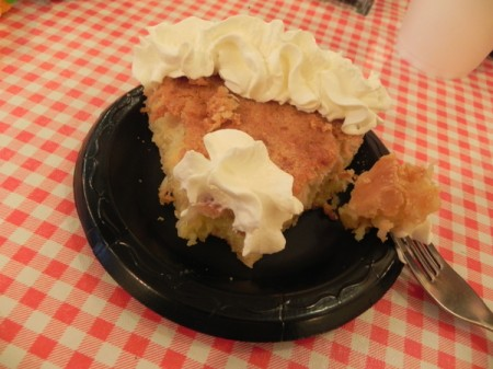 Coconut chess pie at High Cotton BBQ