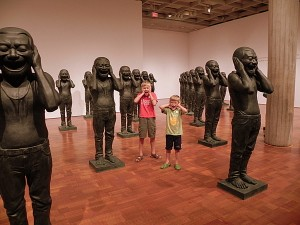 Chinese Contemporary Warriors laugh and laugh at the Milwaukee Art Museum