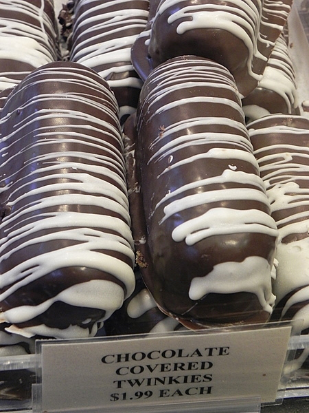 I was almost tempted to try these chocolate-covered Twinkies at Wythe Candy and Gourmet - almost.