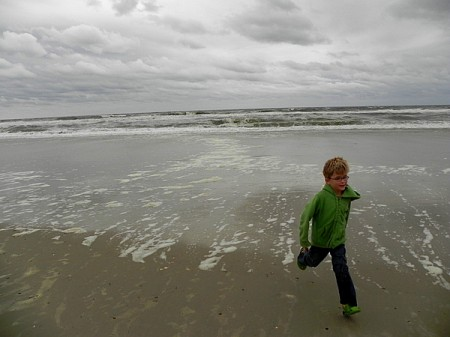 Running on the beach, Currituck Outer Banks