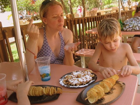 Enjoying treats at Water Country USA