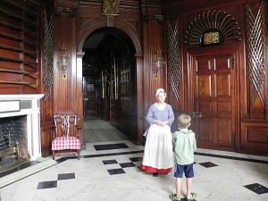 Entrance Hall in the Governor's Palace at Colonial Williamsburg