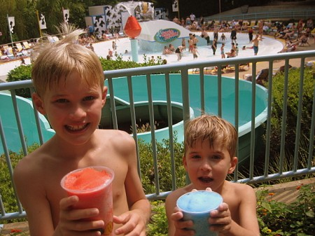 Frozen drinks at Water Country USA