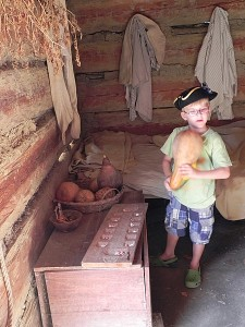 Gourds in the slave quarters at Great Hopes Plantation