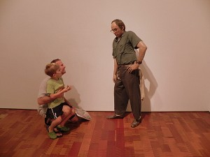 Duane Hanson's Janitor at the Milwaukee Art Museum is so realistic!