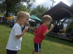 Ice Cream at the Farmers Market in Waitsfield, Vermont