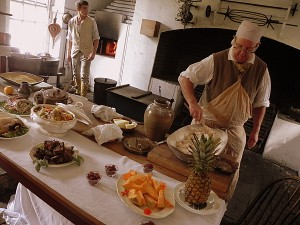 Kitchen at the Governor's Palace in Colonial Williamsburg