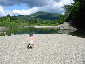 Lareau swimming hole in the Mad River Valley, Vermont