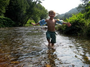 Playing in the Mad River