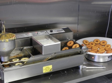 Donut maker at Duck Donuts in the Currituck Outer Banks