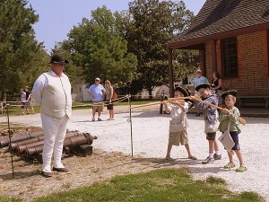 Presenting arms in Colonial Williamsburg