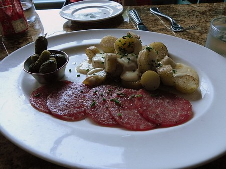 Raclette at the Blue Talon Bistro